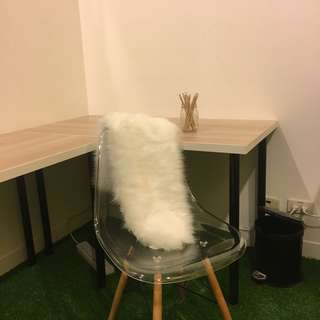 FAUX FUR GHOST CHAIR ACCENT