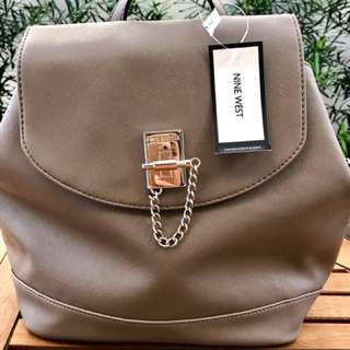 Bag#6 NINE WEST Backpack/Beige