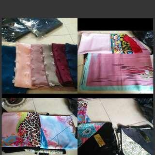 Jilbab velvet, rubiah, bergo, polyester