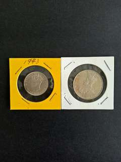 Old Coins 20-50 good condition 2pcs 25