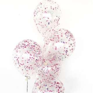 Helium Balloons - 12 Inch Confetti Princess Balloon