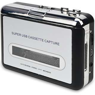 DIGITNOW Cassette Player-Cassette Tape To MP3 CD Converter Via USB,Portable Cassette Tape Converter Captures MP3 Audio Music,Convert Walkman Tape Cassette To MP3 Format, Compatible With Laptop and PC