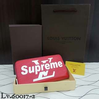 Supreme X LV Wallet Red