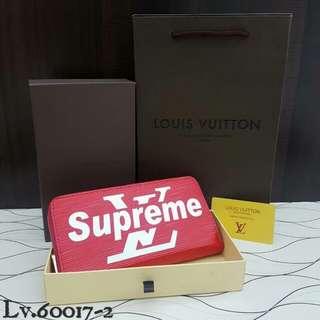 Supreme X LV Wallet Red