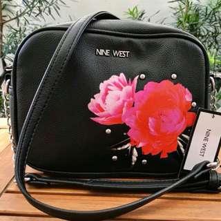 Bag#8 NINE WEST  Black, Sling bag