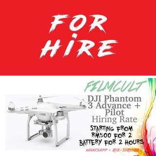Hire Aerial Drone Service + Pilot