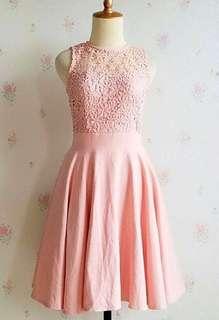 Peach prada dress