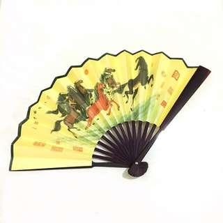Horse Paper Folding Hand Fan