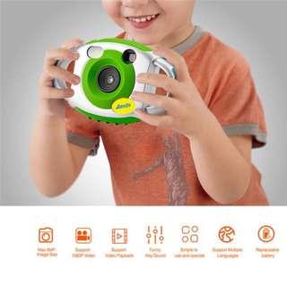 AMKOV Mini Camera Creativity Neck Camera Photography for Cute Kid Portable 5MP HD Camera Support Speaker Recording 32GB SD Card