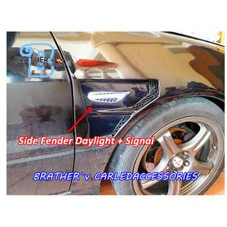 (4) Side fender Daylight + Signal Function