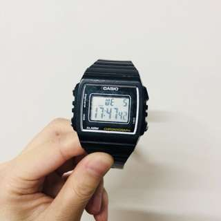Casio - simple watch with 50 m water resistance