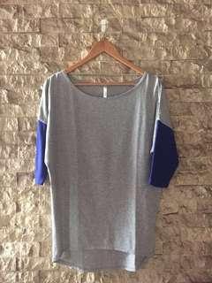 Kamiseta Gray Top w/ Dark Blue Sleeves