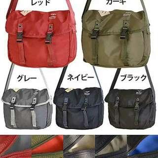 ✳ New Anello Logo Print Messenger Bag