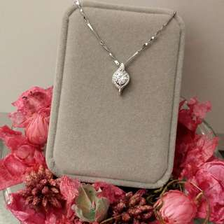 經典閃亮菱型吊墜頸鏈 Classic Shiny Heart Pendant Necklace