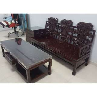 6 Piece Antique Chairs/Table