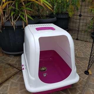 JUAL RUGI NEW petopia pet cat house plastic rumah kandang kucing litterbox tempat pipis hewan anjing kelinci
