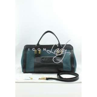 CHLOE Alice 黑色/藍綠色皮革 (中號) 手挽袋 肩背袋 手袋