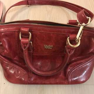 Veeko red hand bag cross bag