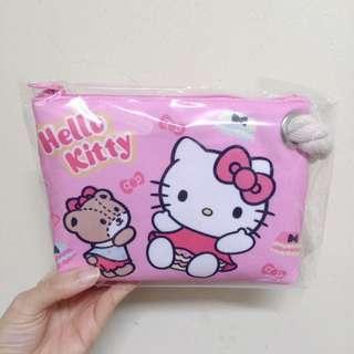 🚚 全新三麗鷗hello kitty 手提包筆袋鉛筆盒收納包大布筆袋