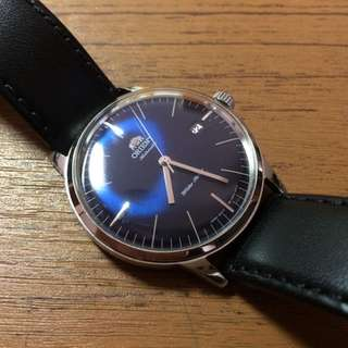 Orient Bambino Version 3 Automatic Dress Watch with Blue Dial, Applied Silver Hour Markers #FER2400LD