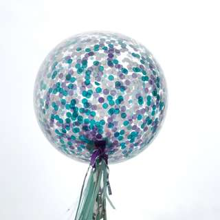 Helium Balloons - 36 Inch Confetti Mermaid Balloon