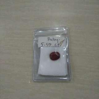 Batu Ruby 5,55ct