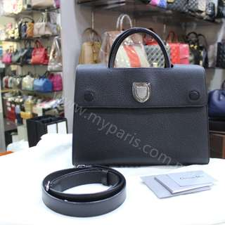 Christian Dior Diorever Bag In Black Bullcalf Leather