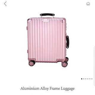 Rose gold 29 inch luggage bag