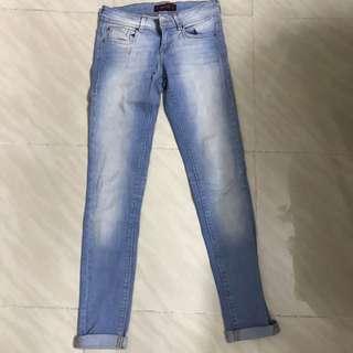 Bershka long jeans skinny 鉛筆褲 直腳腳 90%new