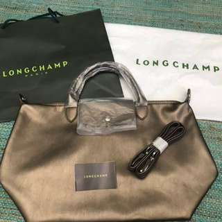 LONGCHAMP NEO CUIR MEDIUM - BRONZE- FREE SHIPPING