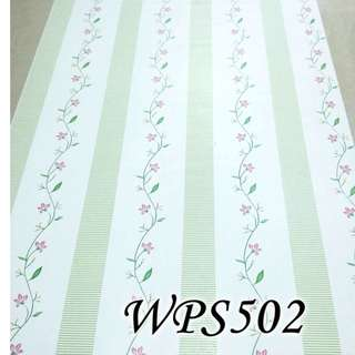 WPS502 CREAM N GREEN STRIPE LINE