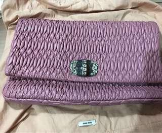 Miumiu Nappa Cristal bag 手袋