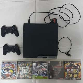 PlayStation 3 Slim 120GB (PS3) and Games