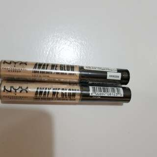 away we glow highlighter nyx