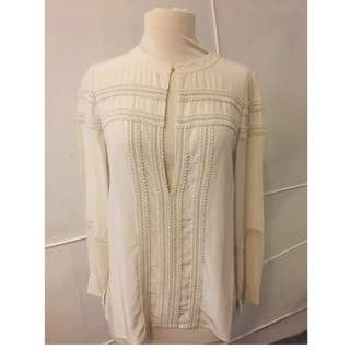 Chloé long sleeve silk white top - Chloé 長袖絲質上衣