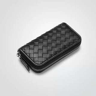 Y193 編織羊皮匙包 Woven Leather Key Bag 織皮匙包