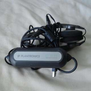 (Sale) Plantronics Headset (Model: DSP-400)
