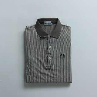 Polo Shirt Kaos Kerah Sergio Tacchini Strip 2nd Original
