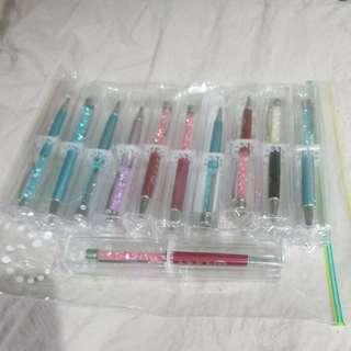 水晶原子筆共 11 枝