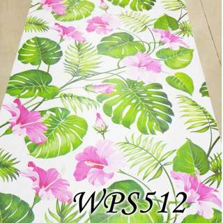 WPS512 WHITE N BIG LEAVES
