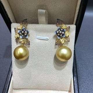 剛收到韓國最新設計師款18k鑽石噴砂耳環,馬上同大家分享🤗