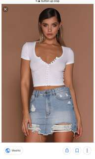 $5 cotton on button down crop