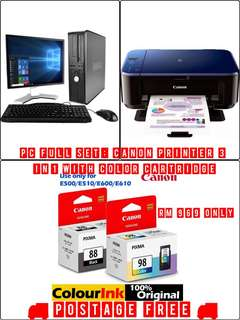 Dell pc full & canon printer