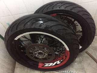 DRZ 400 SM Complete Motard Wheel Set