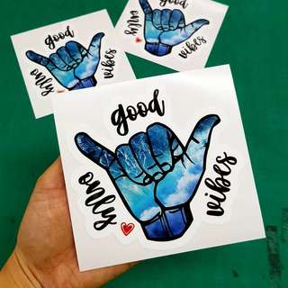 Good Vibes Only Sticker - 12cm(W) X 11.3cm(Ht)