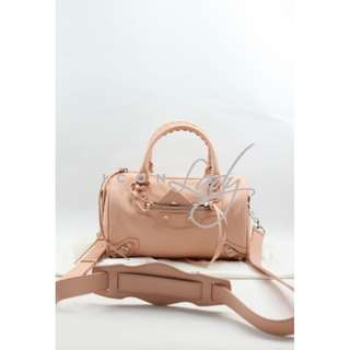 (Sale Promotion)BALENCIAGA Holiday系列 327103 Classic Mini Twiggy 橙粉紅色 (Powder Pink) Tone on Tone 斜揹袋 肩背袋 手挽袋 手袋