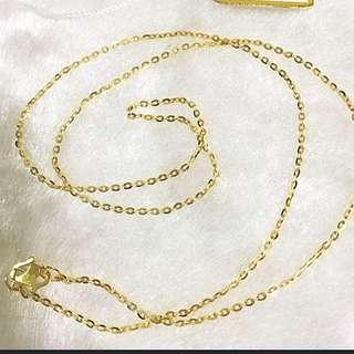 916 Gold Necklace Polo design