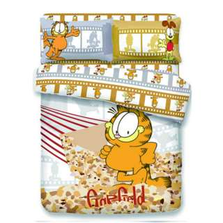 Yes Zone 卡通精品 加菲貓 Garfield #04 正版 單人/雙人 三件套床笠純棉被套四件套床單