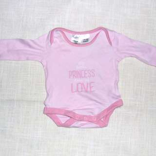 Charity Sale! Authentic Tiny Little Wonders Size Newborn Princess Baby Girl Onesie