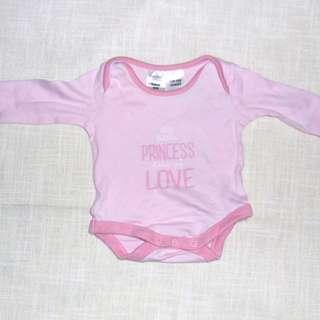 Charity Sale! Authentic Tiny Little Wonders Size Newborn Princess Baby Girl Onesie